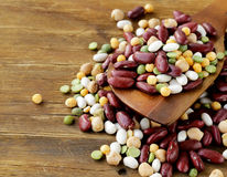 Mix of beans  peas, lentils Royalty Free Stock Photos
