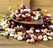 Mix of beans  peas, lentils Royalty Free Stock Images