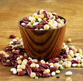 Mix of beans  peas, lentils Royalty Free Stock Photography