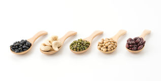 mix beans royalty free stock photo