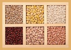 Mix of beans Stock Photos
