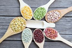 Mix of beans Royalty Free Stock Photos