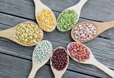 Mix beans Stock Photos