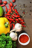 Mix of beautiful, fresh, vivid vegetables Stock Photo