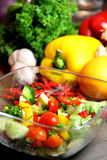 Mix of beautiful, fresh, vivid vegetables Stock Image
