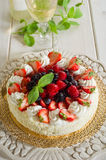 Mix berries cake Stock Photo