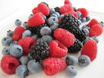 Mix of berries. Fresh delicious mix of berries Stock Images