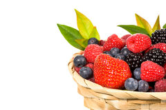 Mix berries isolated Stock Photos
