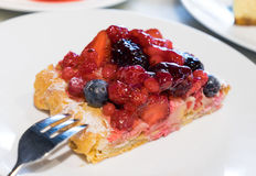 Mix berries pastry; sweet dessert Stock Images