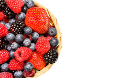 Mix berries top view  Royalty Free Stock Images