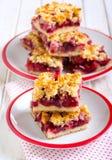 Mix berry crumble cake Stock Photos