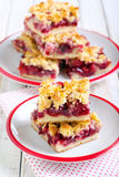 Mix berry crumble cake Stock Photos