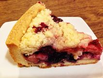 Mix berry crumble tart Stock Images