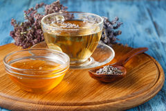 Mix of bio herbal tea. On table stock photos