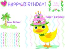 Mix of Birthday Greetings Royalty Free Stock Images
