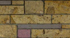 Mix Block Brick Wall Royalty Free Stock Photos
