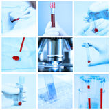 Mix of blood test in a laboratory Stock Photo