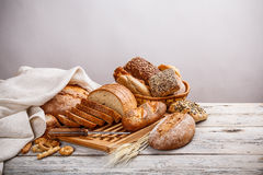 Mix of bread royalty free stock images