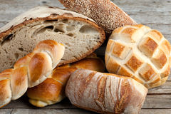 Mix Of Breads Royalty Free Stock Photography