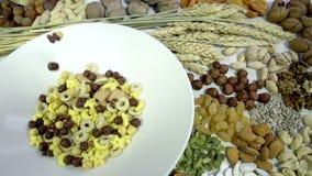Mix Breakfast Cereal stock video