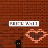 Mix Bricks wall. Bricks wall wallpaper 4 styles Royalty Free Stock Images