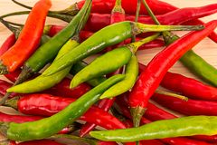 Mix bright contrast pods chilli pepper thin long background natural spicy giving a picca base stock image