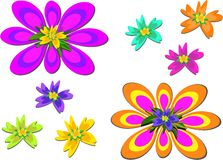 Mix of Brightly Colored Flowers Stock Image