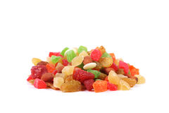 Mix of candied fruits and nuts Stock Image