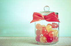 Mix candies in a jar Royalty Free Stock Images