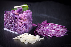 Mix Of Cereals With Red Cabbage Stock Photography