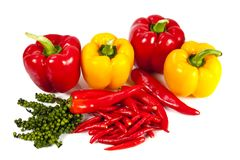 Mix chili and pepper Royalty Free Stock Photos