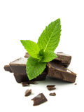 Mix chocolate and mint Royalty Free Stock Image