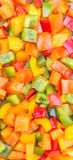 Mix Chopped Colorful Bell Pepper Close Up View III Royalty Free Stock Image