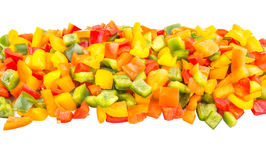 Mix Chopped Colorful Bell Pepper Close Up View VI Stock Photos