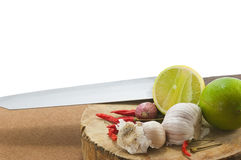 Mix chopping block Royalty Free Stock Images