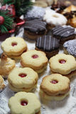 Mix of Christmas cookies with cinnamon on the table Royalty Free Stock Photo