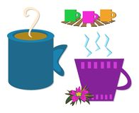 Mix of Coffee Cups Royalty Free Stock Photos