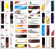 Mix Collection banners Royalty Free Stock Photography