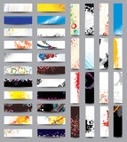 Mix Collection banners. Mix Collection vertical and horizontal banners Stock Photos
