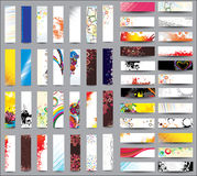 Mix Collection Vertical Banners Royalty Free Stock Image