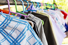 Mix color clothes and Tie Royalty Free Stock Photography