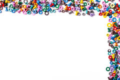 Mix of color nuts and bolts. On white background Stock Images
