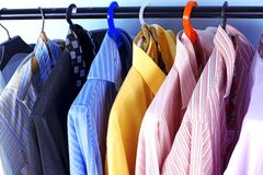 Mix color Shirt and Tie Stock Image