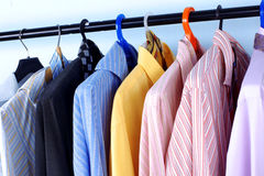 Mix color Shirt and Tie Royalty Free Stock Images