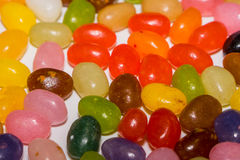 A mix of colored jelly beans candy Royalty Free Stock Image