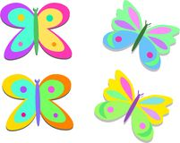 Mix of Colorful Butterflies Royalty Free Stock Photography