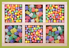 Mix of colorful candies Royalty Free Stock Photos
