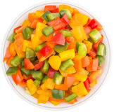 Mix Colorful Chopped Capsicums II Royalty Free Stock Photo