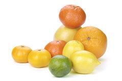 Mix of colorful citrus fruit Royalty Free Stock Image