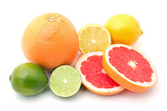 Mix of colorful citrus fruit Royalty Free Stock Images